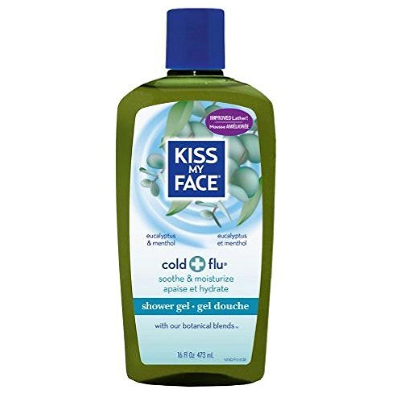 富豪蒸留するパズルx Kiss My Face Bath and Shower Gel Cold And Flu Eucalyptus and Menthol - 16 fl oz by Kiss My Face