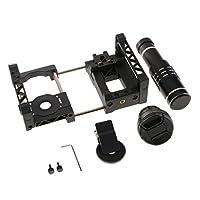 Baosity スマホ カメラ用 外付け 望遠レンズ 広角レンズ カメラケージ 12倍/18倍/20倍 ズーム 撮影キット - 18倍ズーム