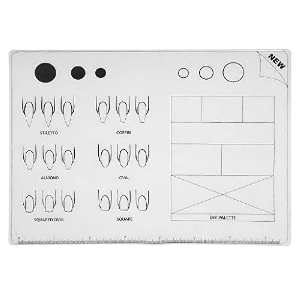 させるブラスト状Homyl ネイルアート 練習 シリコン ネイル マット パッド マニキュア ネイルアート ツール プロ 家庭 兼用 全3種類 - 1