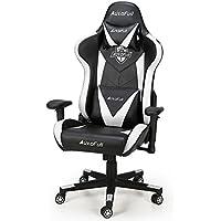 AutoFull ゲーミングチェア PU - オフィスチェア 無段階 リクライニング ロンキング 多機能 事務椅子 ヘッドレスト 腰痛対策 ハイバック デスクチェア プロシリーズ