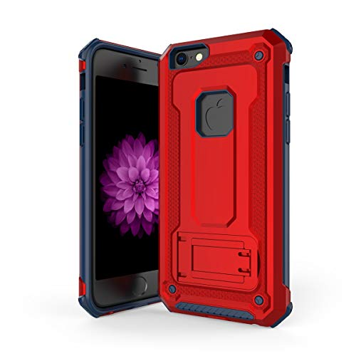 MeetJP iPhone 6 Plus iPhone 6s Plus シェル 落ちる 肌 電話ケーススリム 携帯 シェル 〜と ネイティブタッチフィーリング の iPhone 6 Plus iPhone 6s Plus (Blue+Red)