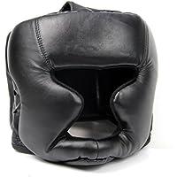 SODIAL(R) 黒のヘッドギアヘッドガード トレーニングヘルメット キックボクシング保護ギア
