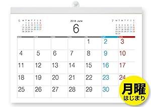 ● 届いてすぐに使える 2018年 壁掛けカレンダー● 2018年6月から2019年6月までの1ヶ月ボーナス付の13枚組 ● モノトーンでシンプルデザイン 自由にスケジュールの書き込みができます● 5週表記● 上部に前月と次月を配置 ● 六曜なし ● 国産高級上質紙110kg[白]を使用していますので、書き込みしやすく、見やすい● 可動式留め具はプラスティック製[白]で吊りさげた時に左右のバランスを調整できます● 月が終わりましたら、切り離してご使用いただくタイプのカレンダーです