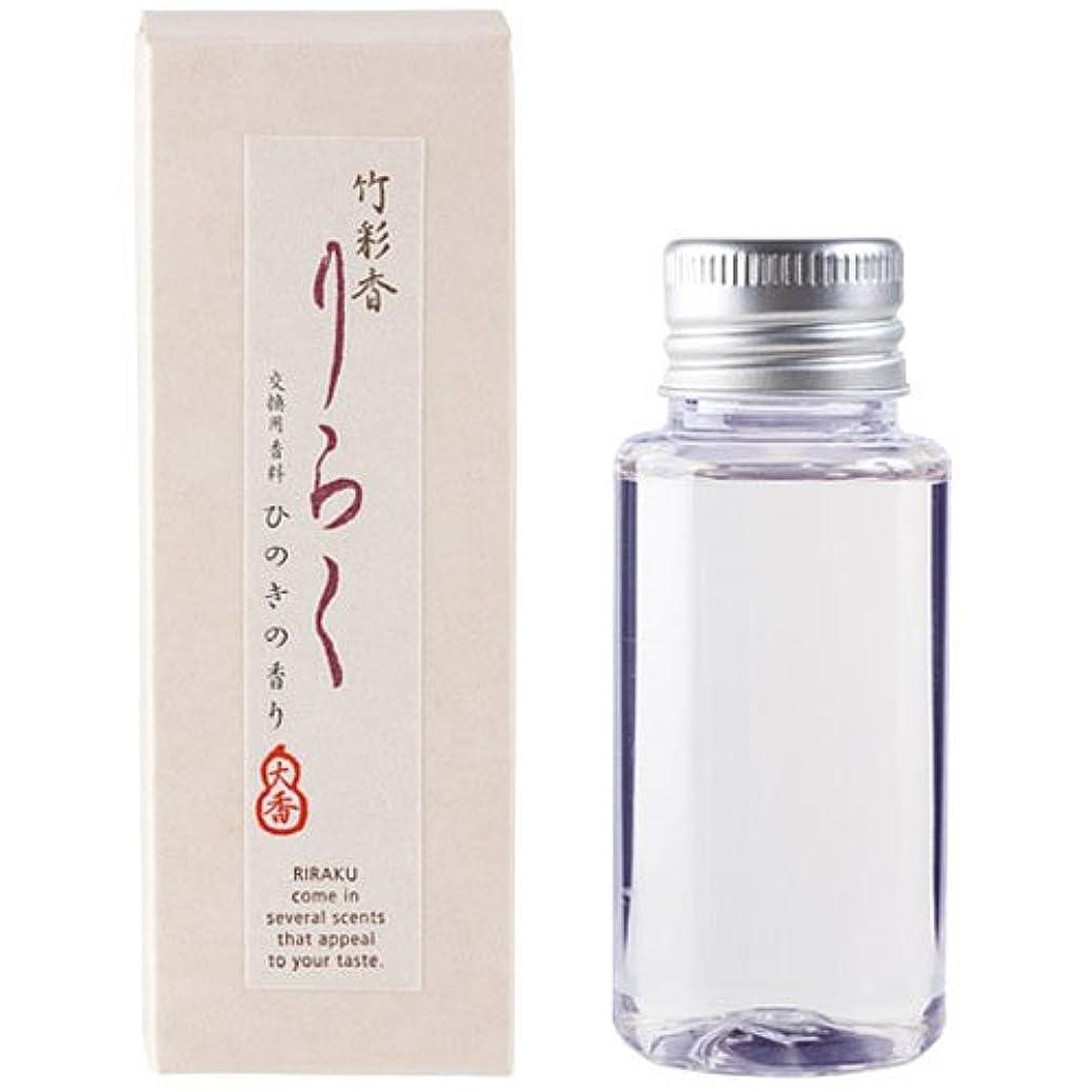 消費者地元縁石竹彩香りらく 交換用香料ひのき 50ml