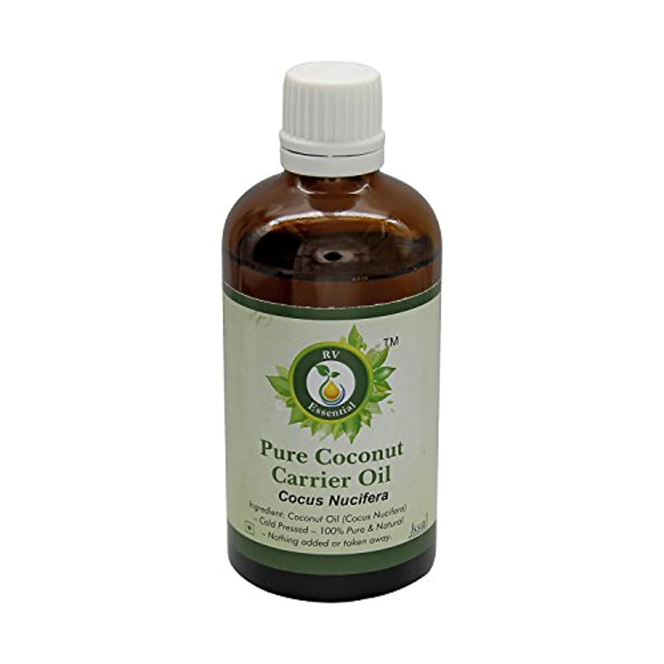 識別するバラエティ消すR V Essential 純粋なココナッツキャリアオイル30ml (1.01oz)- Cocus Nucifera (100%ピュア&ナチュラルコールドPressed) Pure Coconut Carrier Oil