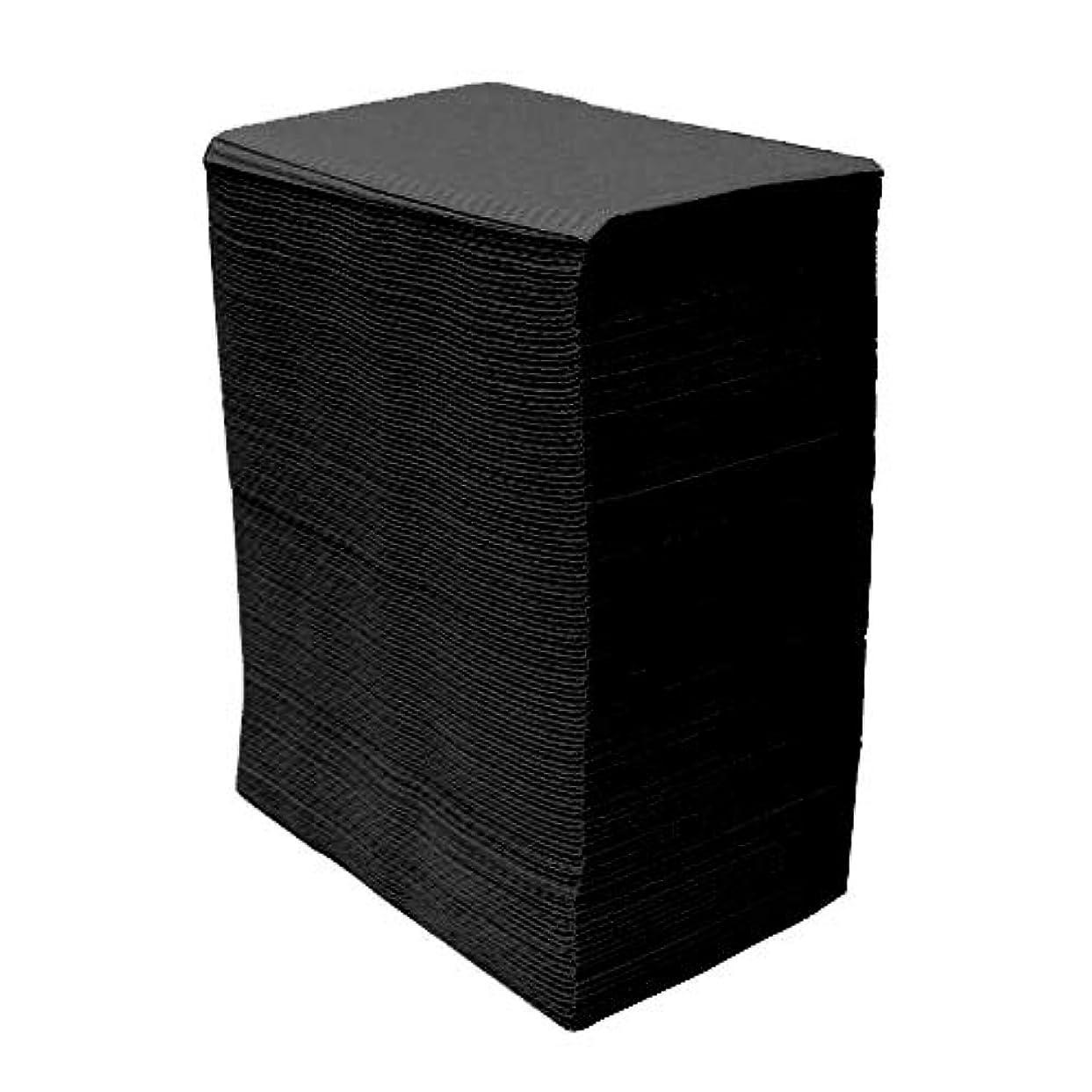 【125枚入】ネイルテーブルシート (ブラック) 防水加工 ジェルネイル ネイルペーパー ネイルマット 防水ネイルシート