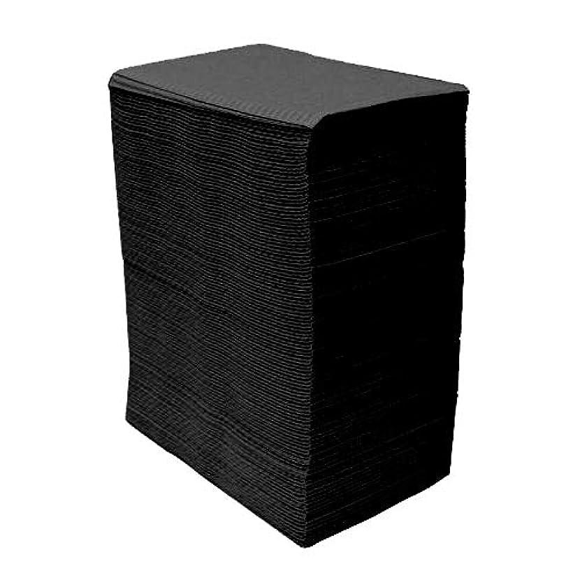貧困瞑想的撤退【125枚入】ネイルテーブルシート (ブラック) 防水加工 ジェルネイル ネイルペーパー ネイルマット 防水ネイルシート