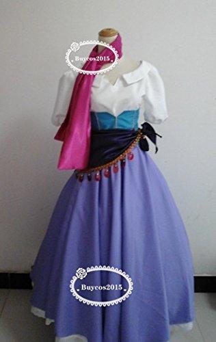実物撮影 コスプレ衣装 ディズニー ノートルダムの鐘 エスメラルダ 女S オーダーサイズ可能