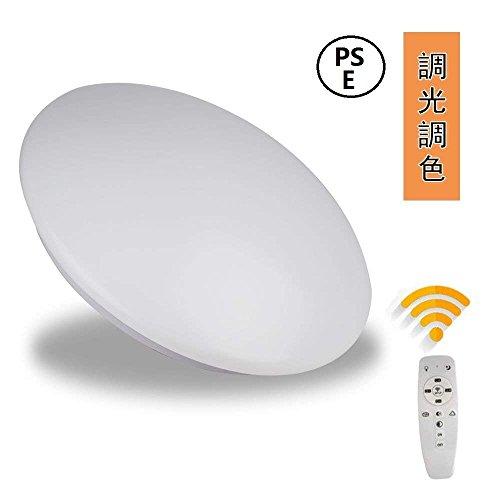 LEDシーリングライト 調光調色 リモコン付き ~6畳 引っ...
