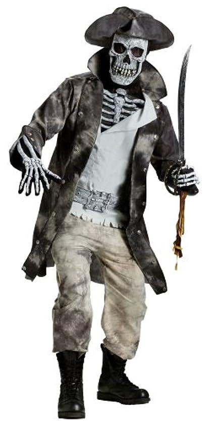 モナリザ広大な池Fun World ハロウィン 仮装 怖いガイコツの海賊 ゾンビ コスチューム メンズ ワンサイズ