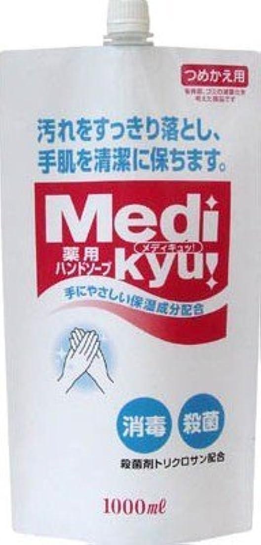 流行性別化合物薬用ハンドソープ メディキュッ 大型詰替用 1000ml×12本