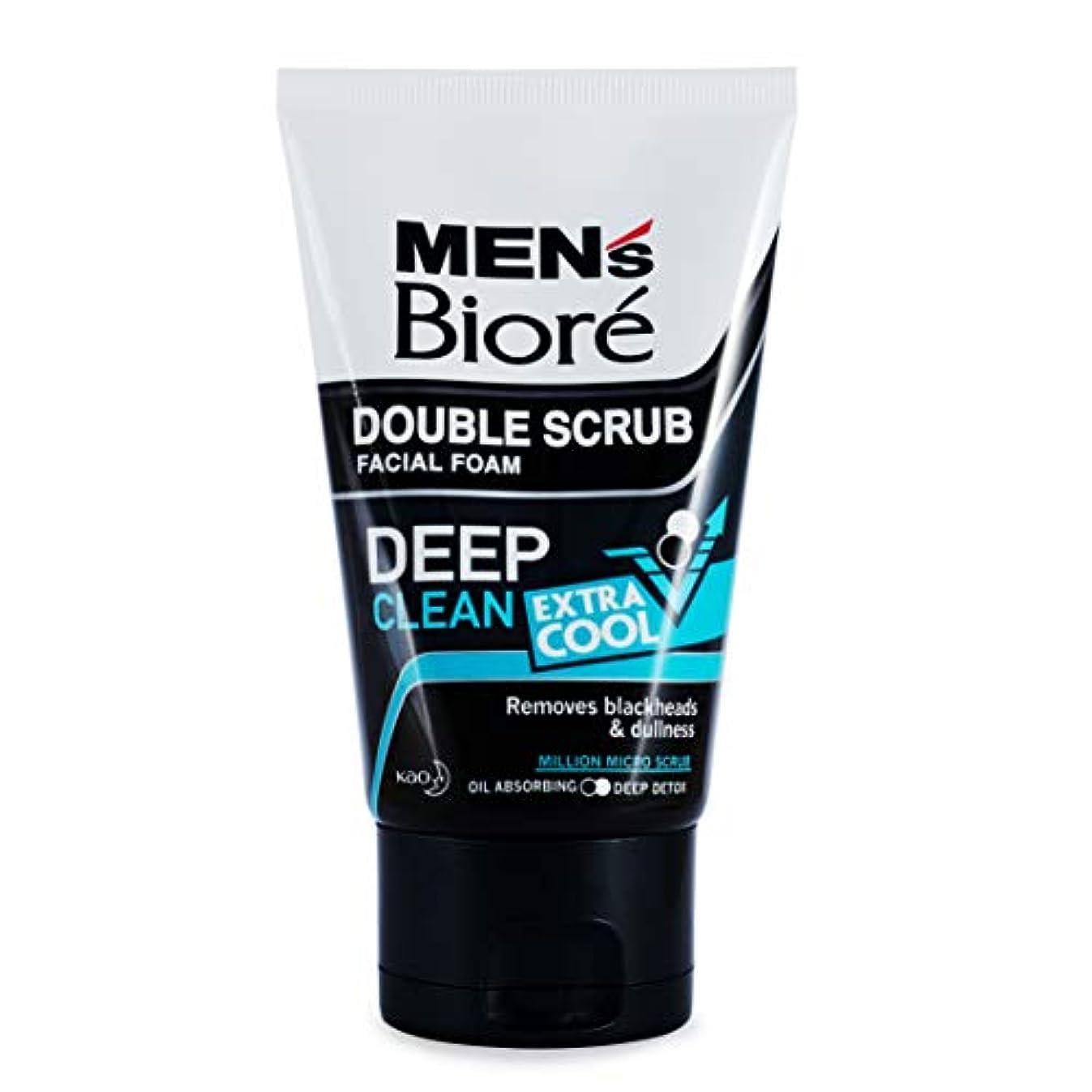 判読できない少ないボットBiore Men's ダブルスクラブ余分なクールな顔泡100グラム、なめらかな明るい&健康な皮膚。 - 非常にクール&さわやかな感覚。