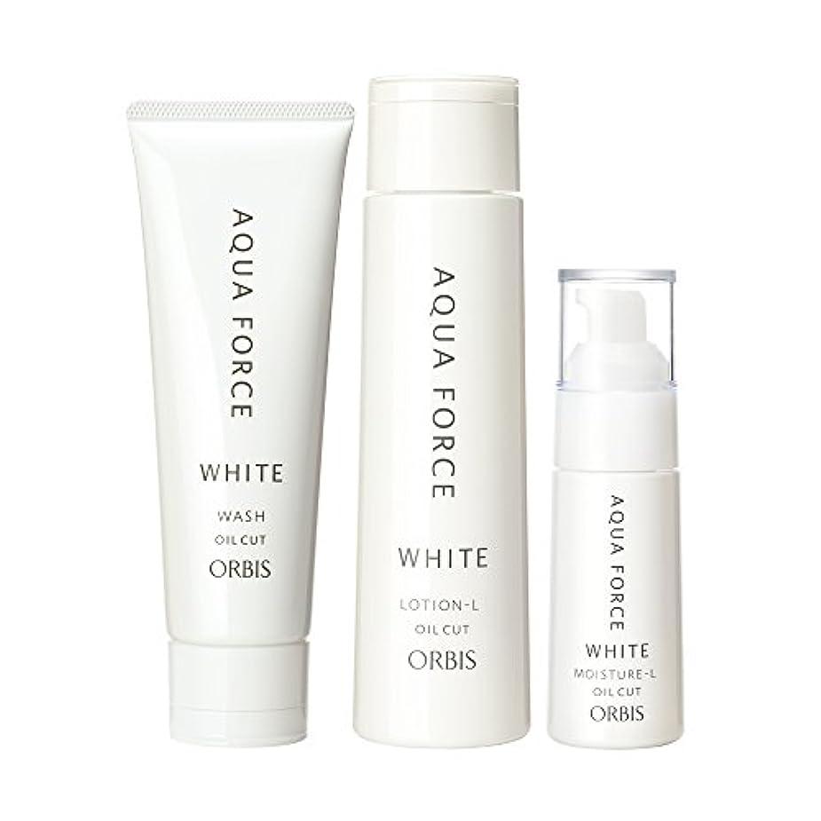ホームレス白いぴかぴかオルビス(ORBIS) アクアフォースホワイトシリーズ 3ステップセット (L さっぱりタイプ) ◎美白?透明感ケア◎ 医薬部外品