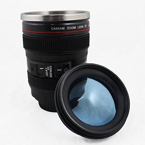 第6世代 [Caniam] キャノン カメラ 24~105ミリ レンズ型 保温 ステンレス マグカップ タンブラーCaniam 【インポート】