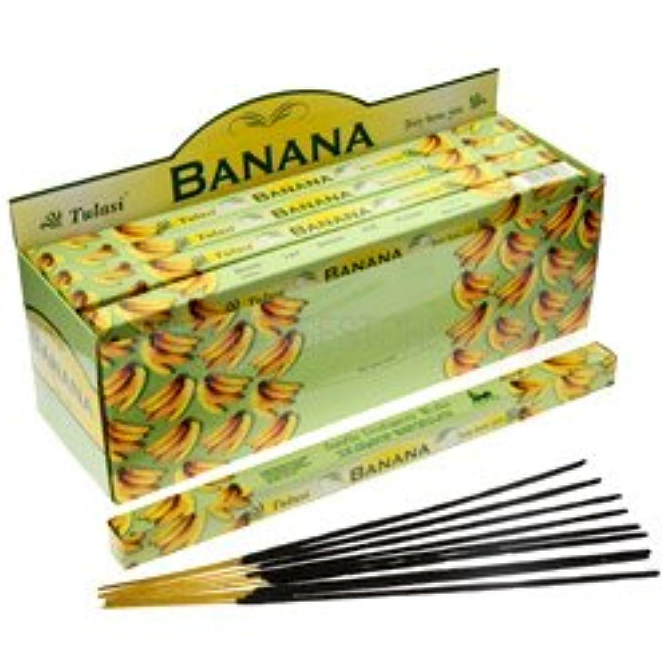 アンデス山脈検出する歩き回るTulasi Banana Incense, 8 Sticks x 25 Packs
