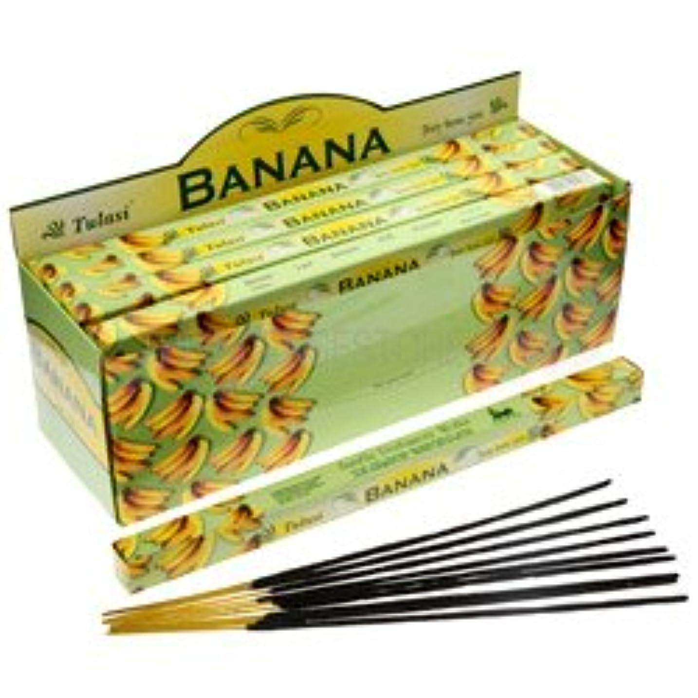 差し迫ったクッション肌寒いTulasi Banana Incense, 8 Sticks x 25 Packs