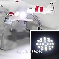 Exiron 24 LED ホワイトヘッドライト DJI Phantom 2 Vision+ Quadcopter Night Fly E5M1用