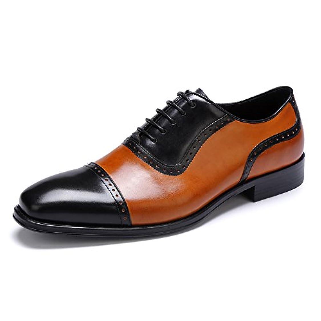 世界に死んだ振るカウボーイONE MAX メンズ 大きいサイズ ビジネスシューズ 本革 革靴 ウォーキング 紳士靴 通勤 レースアップ ストレートチップ 柔らかい