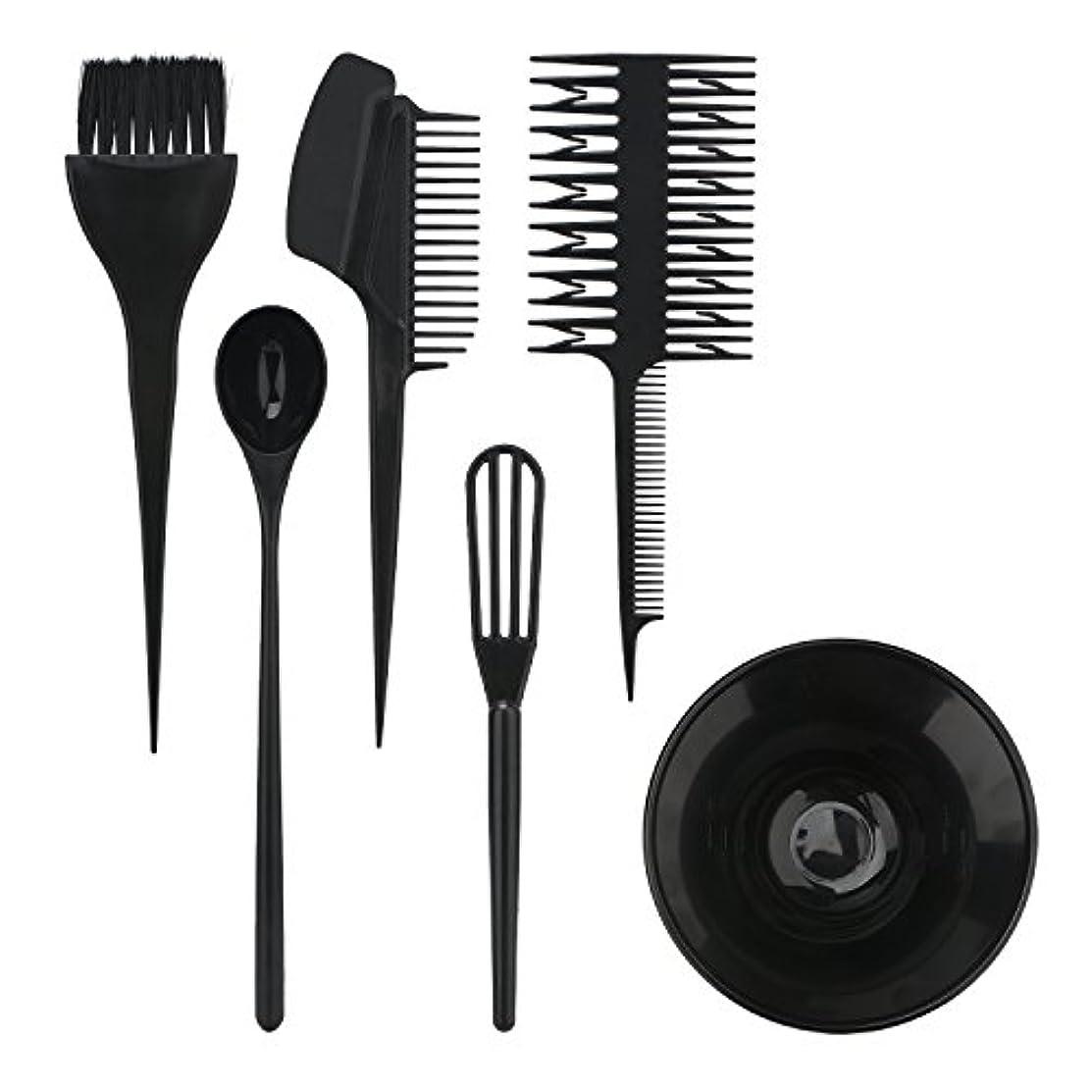 限界二十役立つSegbeauty ヘアカラー用のセット ブラシとボウルの組み合わせ 6pcs DIY髪染め用 サロン 美髪師用 ヘアカラーの用具