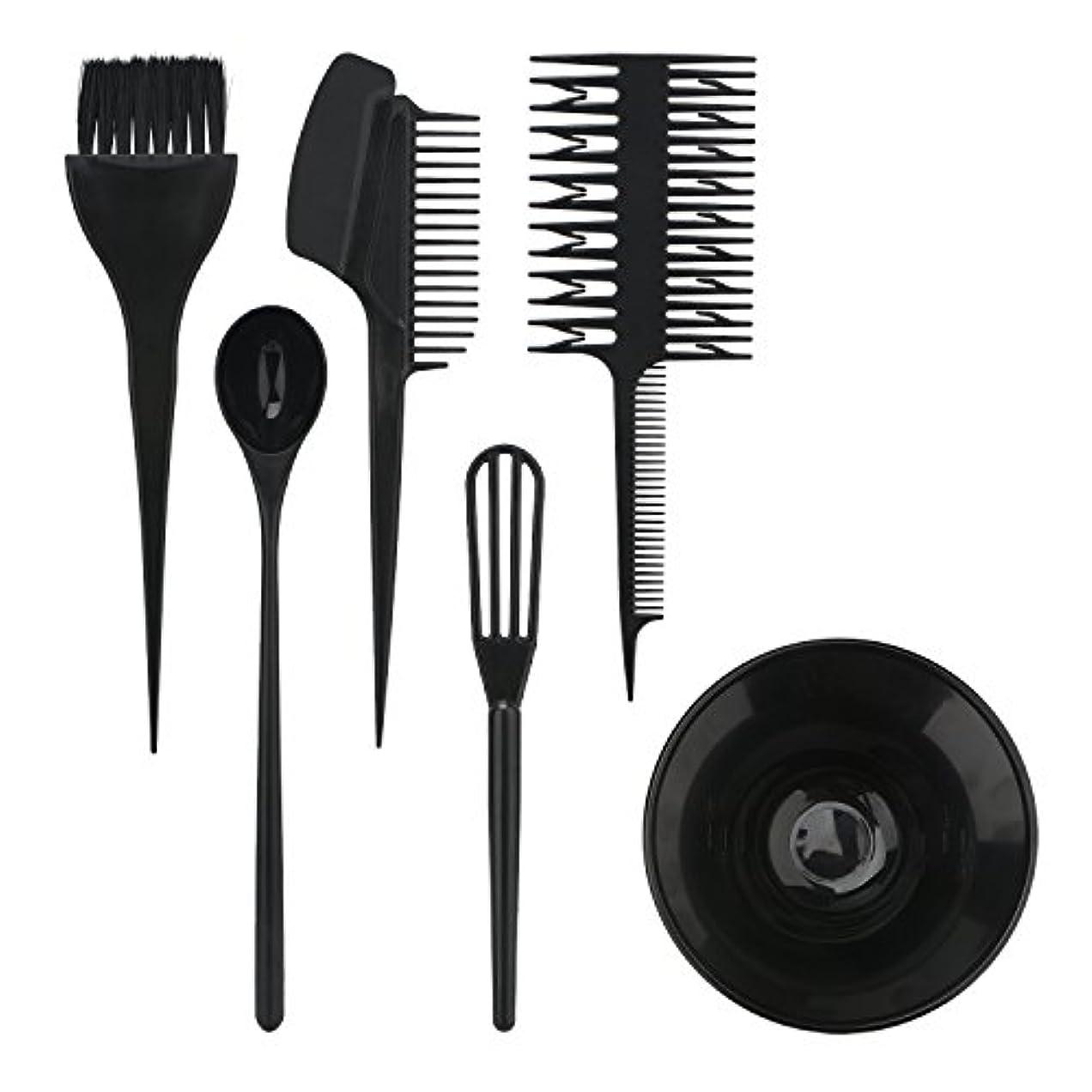 感覚成長する干ばつSegbeauty ヘアカラー用のセット ブラシとボウルの組み合わせ 6pcs DIY髪染め用 サロン 美髪師用 ヘアカラーの用具