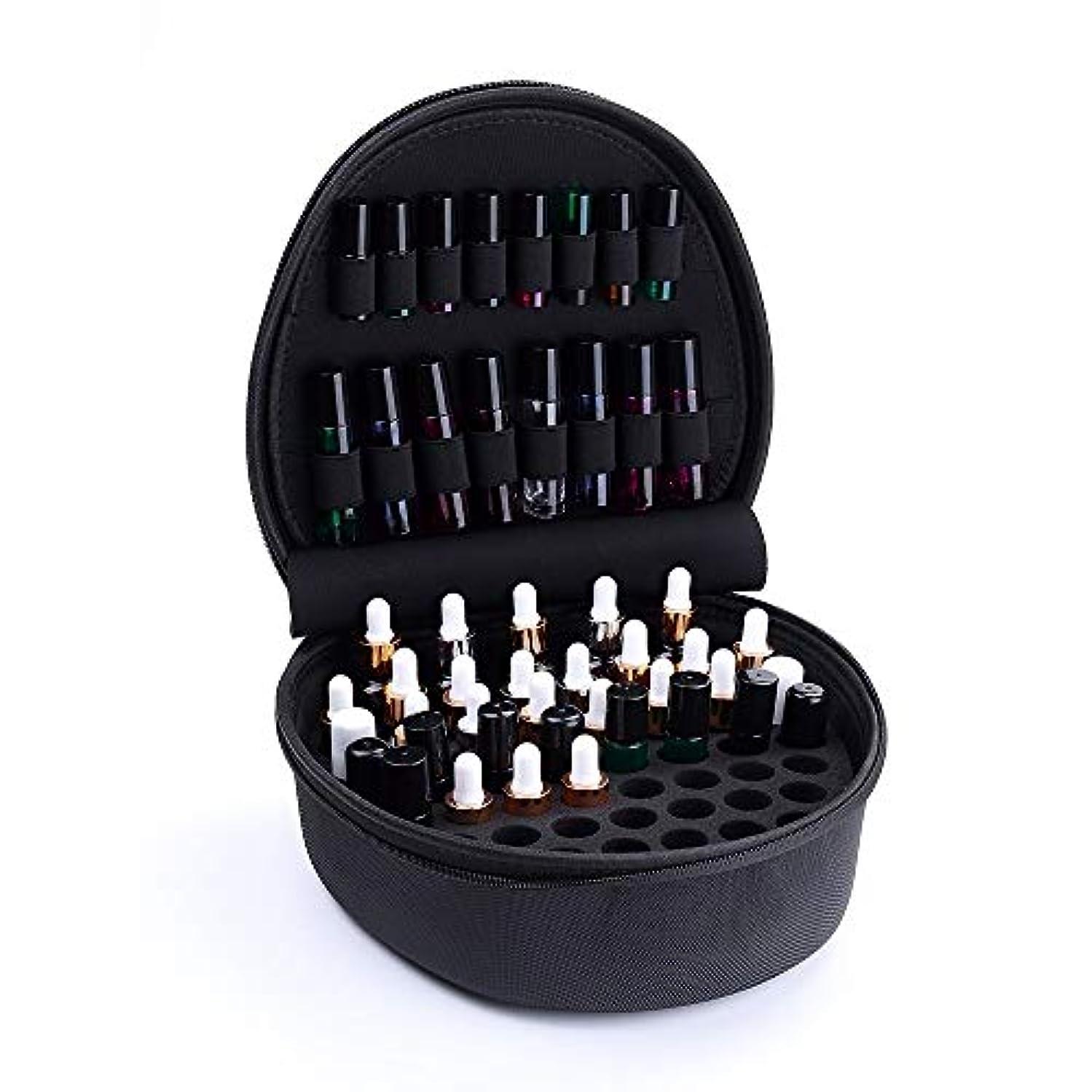 脇に前売味方精油ケース ケースプレミアム保護キャリングエッセンシャルオイルは5-15ML油トラベルオーガナイザーポーチバッグブラックを開催します 携帯便利 (色 : ブラック, サイズ : 24X26X10CM)
