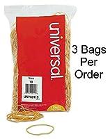 ユニバーサル00119ラバーバンド、サイズ19、3–1/ 2x 1/ 16、1lbパック 3 Pack