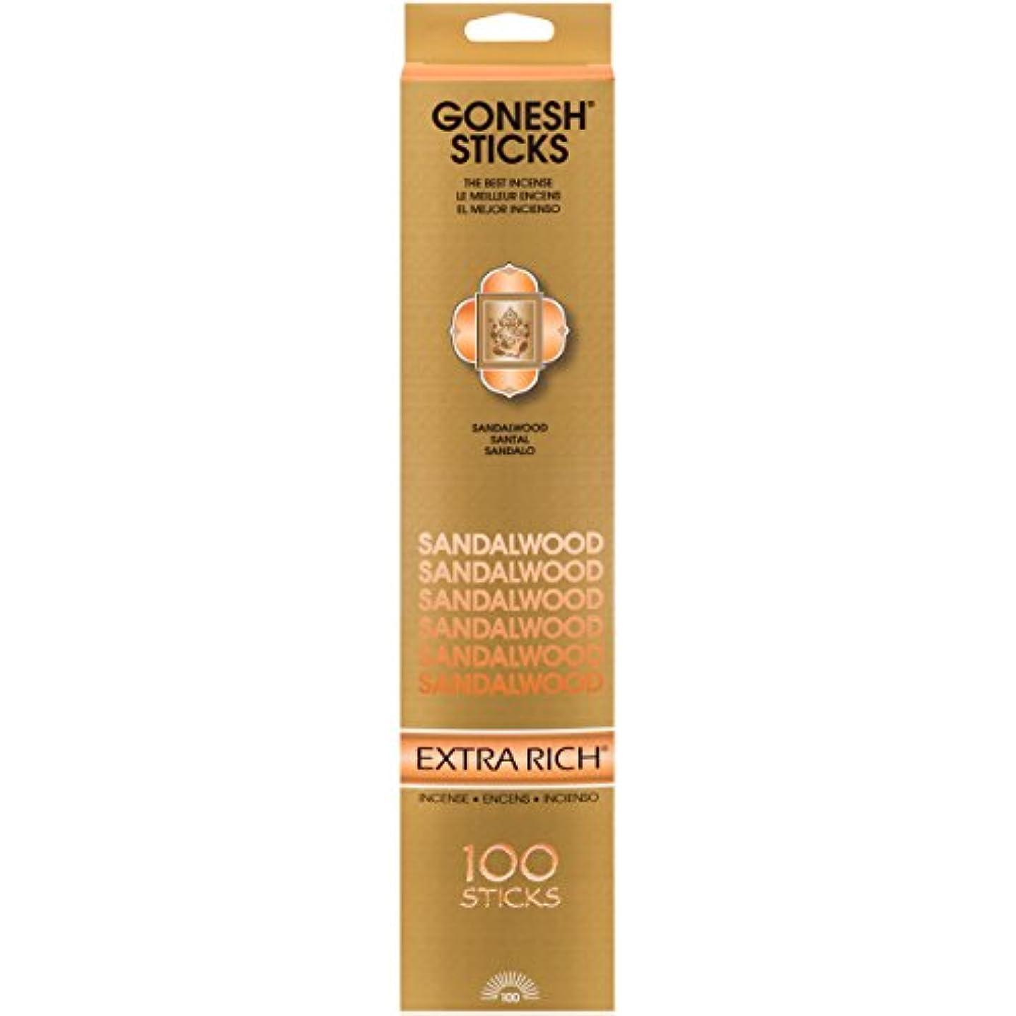 延ばすゴミ箱見物人(Single 100-Stick Pack) - Sandalwood - 100 STICK PACK - Incense by GONESH