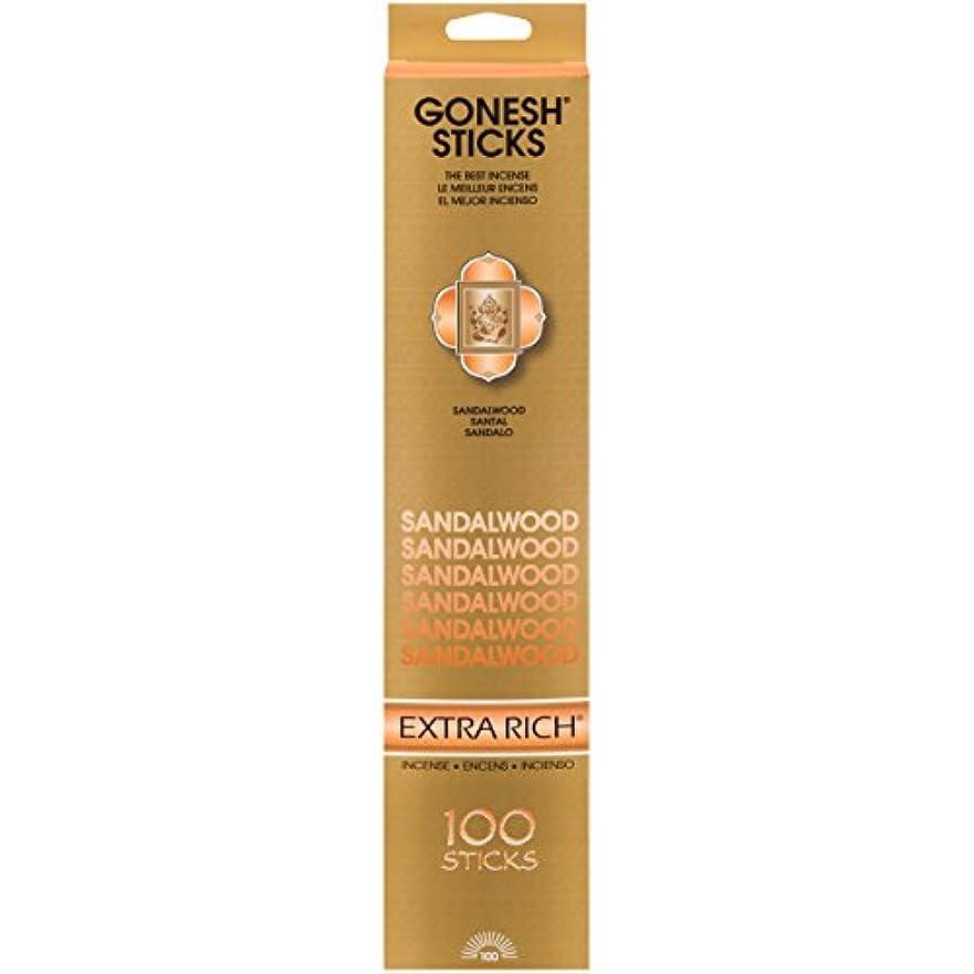 怠な広くドラゴン(Single 100-Stick Pack) - Sandalwood - 100 STICK PACK - Incense by GONESH
