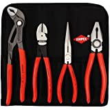 Knipex 4 Piece Plier Set In Tool Roll 0035