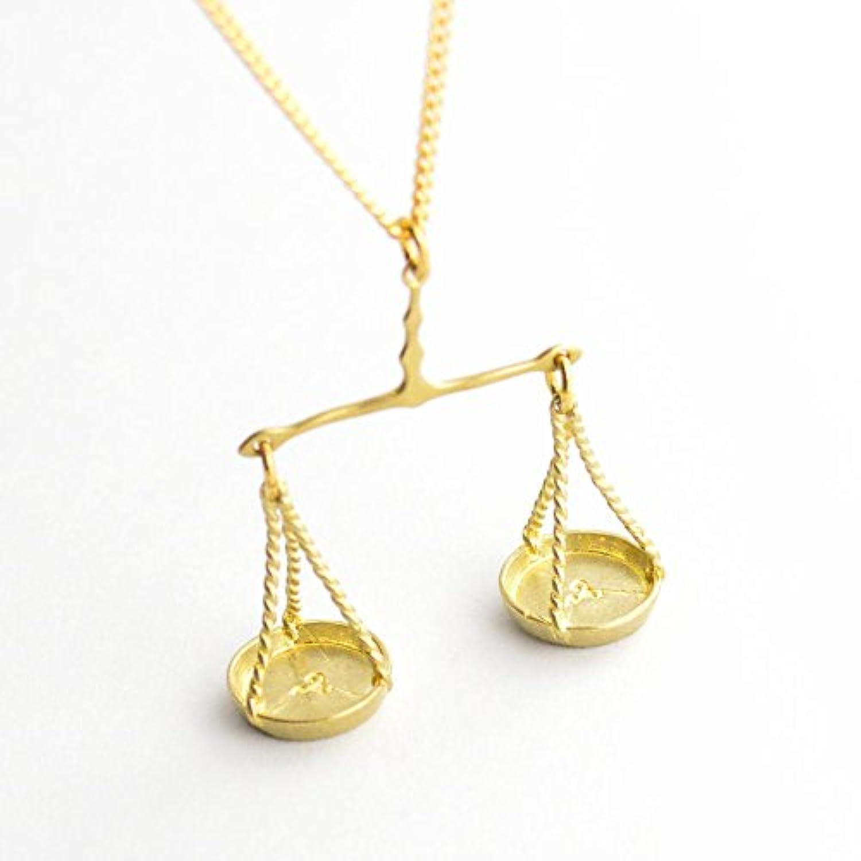【Aquvii/アクビ】 Libra Necklace 【ネックレス】 アクビ アクセサリー 天秤 てんびん座 シンプル おしゃれ かわいい かっこいい 真鍮
