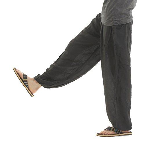 [OKI(オキ)] アジアンパンツ タイパンツ サルエルパンツ ユニセックス 幅広ゴム エスニック メンズ