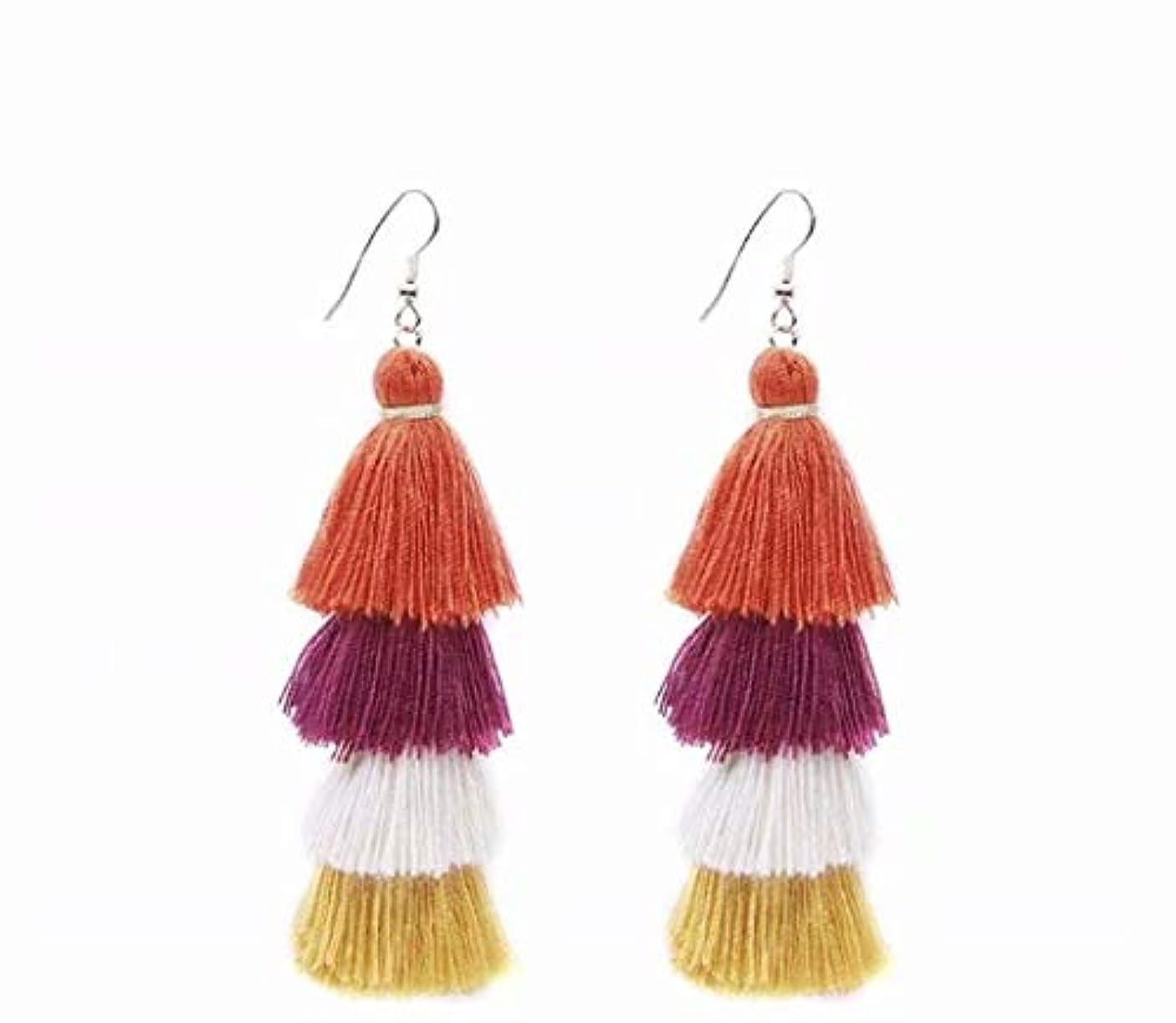 バーマドジョージスティーブンソン交渉する七里の香 Fan Tassel Earrings Hoop Drop Dangle Earrings Fish Hook Earring for Daily Wear, Wedding, Party