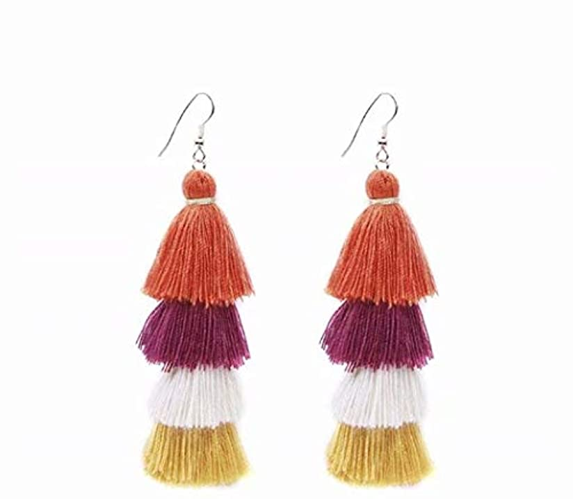 祭司彼らのもの盆七里の香 Fan Tassel Earrings Hoop Drop Dangle Earrings Fish Hook Earring for Daily Wear, Wedding, Party
