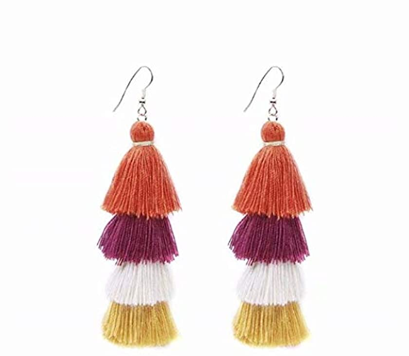 かすかな自分のためにことわざ七里の香 Fan Tassel Earrings Hoop Drop Dangle Earrings Fish Hook Earring for Daily Wear, Wedding, Party