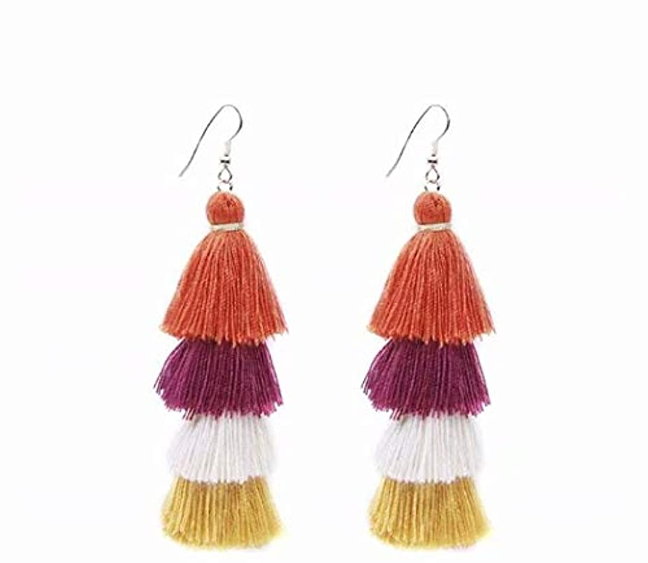 懇願する飢え拘束七里の香 Fan Tassel Earrings Hoop Drop Dangle Earrings Fish Hook Earring for Daily Wear, Wedding, Party