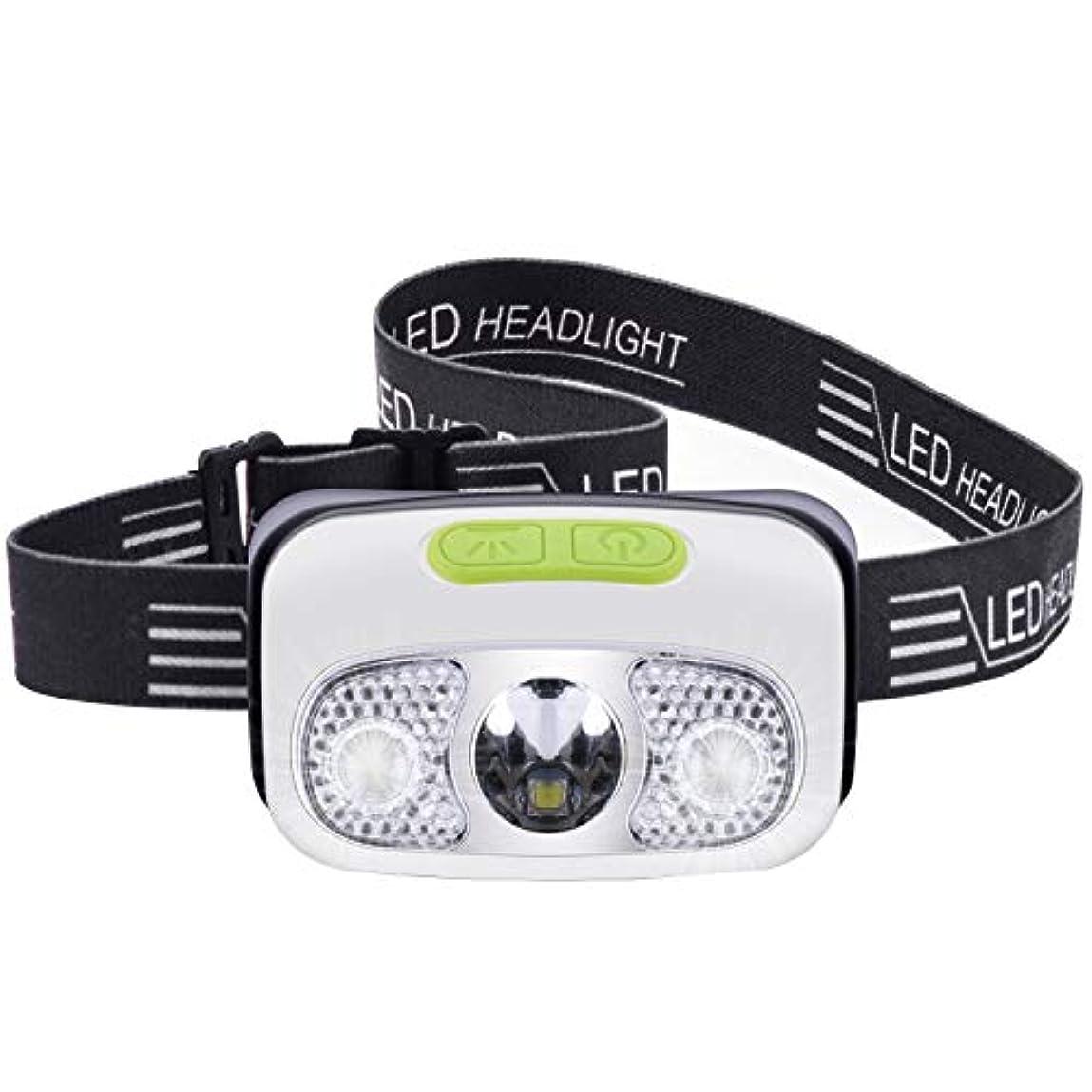 トレーニング瞑想に渡ってヘッドライト usb充電式 4つ明るさモード 300ルーメン 角度調節可能