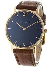 [ポールヒューイット] PAUL HEWITT 腕時計 セーラーライン Sailor Line 39mm PH-SA-R-ST-B-1M ブルーラグーン/ブラウン ユニセックス [並行輸入品]