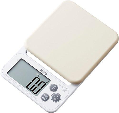 タニタ デジタルクッキングスケール 2kg/0.1g ホワイト KJ-212-WH お菓子作りにおすすめ