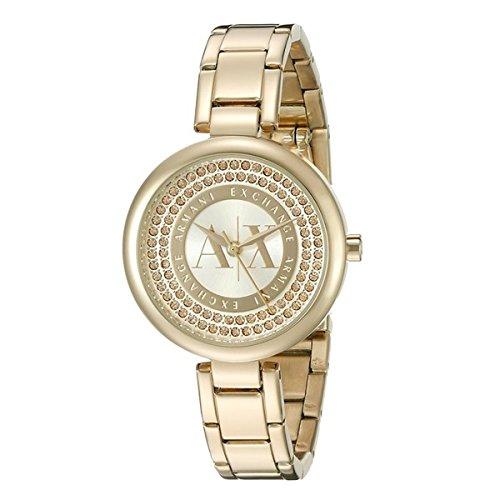 [アルマーニ・エクスチェンジ]ARMANI EXCHANGE レディース Crystal Dial イエローゴールド ブレスウォッチ AX4221 腕時計 [並行輸入品]