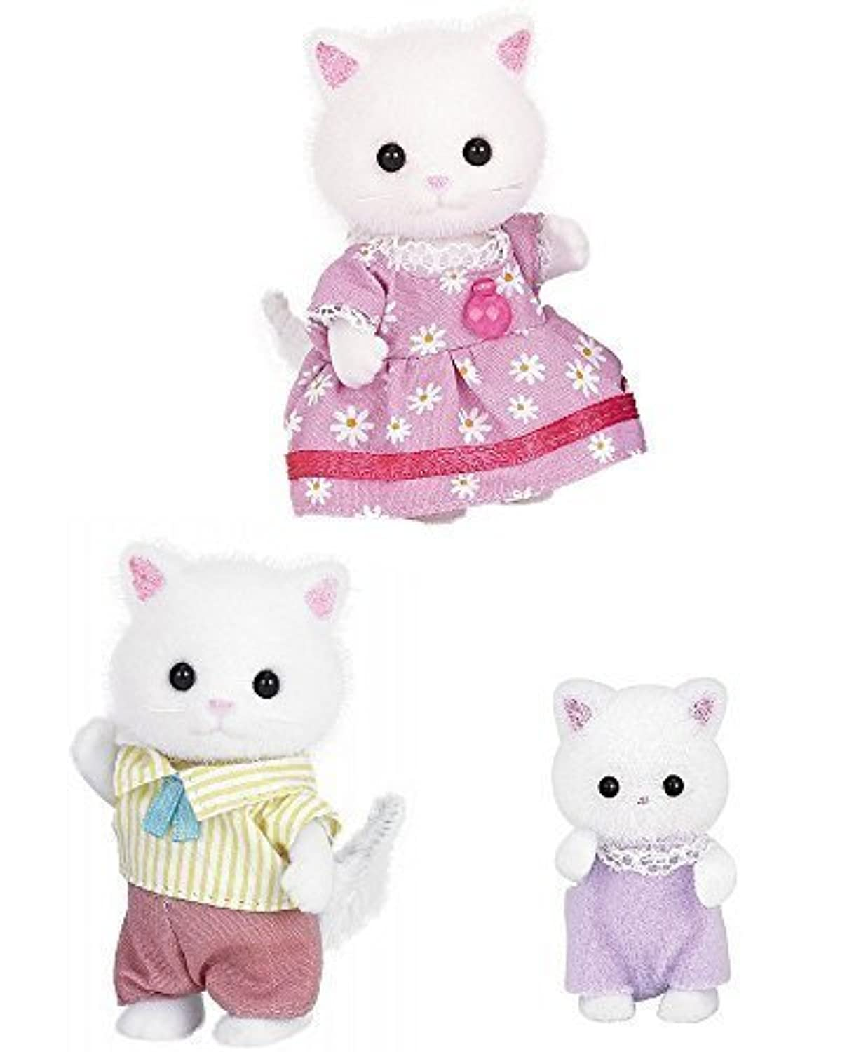 3 Sylvanian Families Sets - Persian Cats - Father, Mother and Baby by Sylvanian Families [並行輸入品]