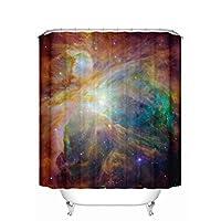 BETTY シンプルなシャワーカーテン、防水性病気抵抗性の厚いポリエステルファブリックバスルームシャワーカーテン180x180cm(WxH)