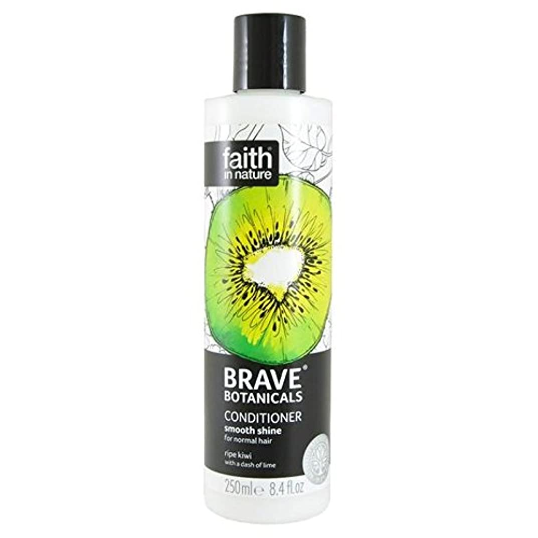 証言する化石技術的なBrave Botanicals Kiwi & Lime Smooth Shine Conditioner 250ml (Pack of 4) - (Faith In Nature) 勇敢な植物キウイ&ライムなめらかな輝...