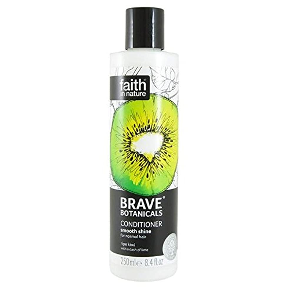 ミケランジェロする唇Brave Botanicals Kiwi & Lime Smooth Shine Conditioner 250ml (Pack of 4) - (Faith In Nature) 勇敢な植物キウイ&ライムなめらかな輝...