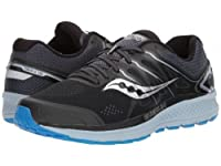 Saucony(サッカニー) メンズ 男性用 シューズ 靴 スニーカー 運動靴 Omni 16 - Black/Grey/Blue 9 D - Medium [並行輸入品]