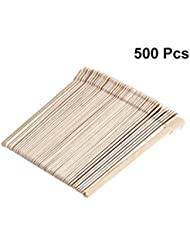 SUPVOX 木製ワックスヘラ使い捨て舌圧子フェイシャルマスクスティック500個