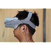 Oculus Go用のショートケーブルイヤホン。