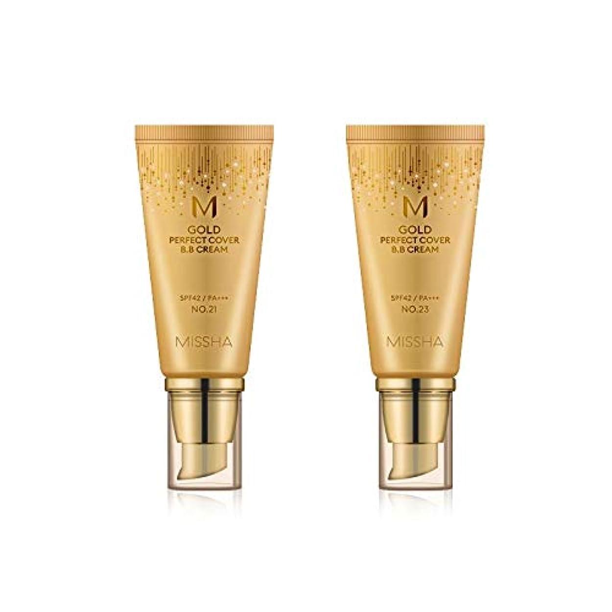 あいまいなペダル精巧なMISSHA Gold Perfecte Cover BB Cream SPF42 PA+++ / ミシャ ゴールド パーフェクト カバー BBクリーム 50ml *NO.23 [並行輸入品]