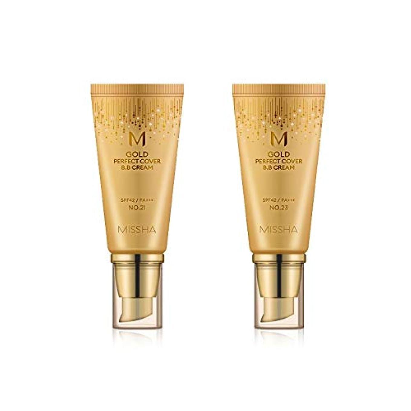 正規化飾り羽ノートMISSHA Gold Perfecte Cover BB Cream SPF42 PA+++ / ミシャ ゴールド パーフェクト カバー BBクリーム 50ml *NO.21 [並行輸入品]
