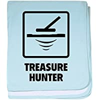 CafePress – Treasure Hunter – スーパーソフトベビー毛布、新生児おくるみ ブルー 068652953625CD2