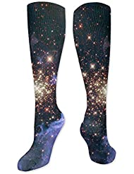靴下,ストッキング,野生のジョーカー,実際,秋の本質,冬必須,サマーウェア&RBXAA Celestial Fireworks Socks Women's Winter Cotton Long Tube Socks Knee...